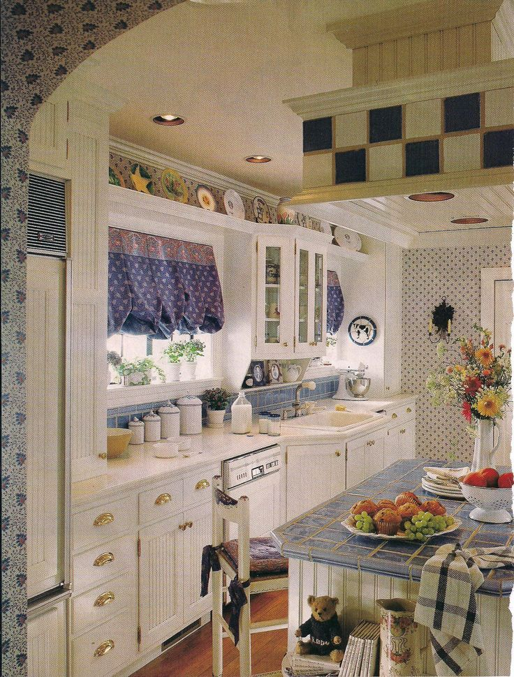 17 meilleures images propos de home sweet home sur for Country style galley kitchens
