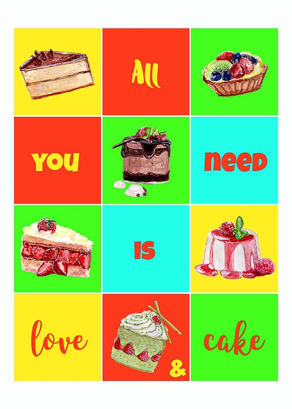 All you need is love and cake print. Cake Table Sign. All you need is cake rustic kitchen sign. Minimalist kitchen decor. Country kitchen wall art  High resolution (300 dpi) JPG files in 5x7, 8x10, 11x14 inches and A4 (210x297 mm) size.