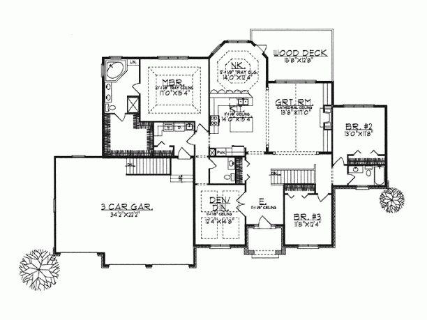 Luxury Partial Basement House Plans