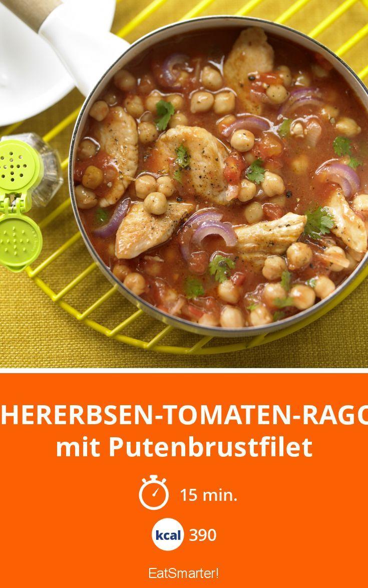Kichererbsen-Tomaten-Ragout - mit Putenbrustfilet - smarter - Kalorien: 390 kcal - Zeit: 15 Min. | eatsmarter.de