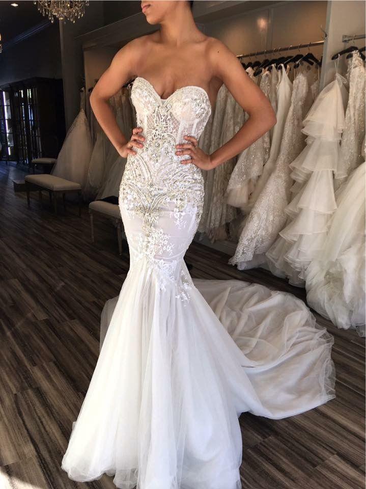 ef91e30b6f fashion sweetheart white tulle wedding dress with beading , bodycon mermaid  sleeveless bridal dress, luxury mermaid beaded wedding dress