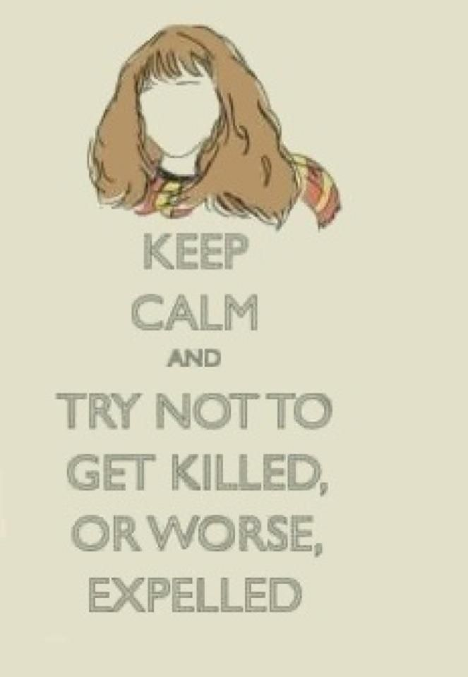 I laugh every time I see this quote! Hermione is just so awesome