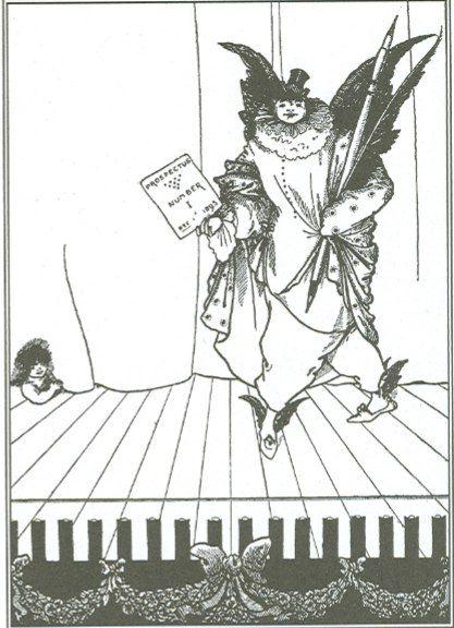 Рисунки для проспекта журнала «Савой» явились в творчестве Бердслея чем-то необычно новым. Эти три его рисунка — высший образец рекламного искусства; именно с этой точки зрения последовательное сравнение трех рисунков особенно интересно.
