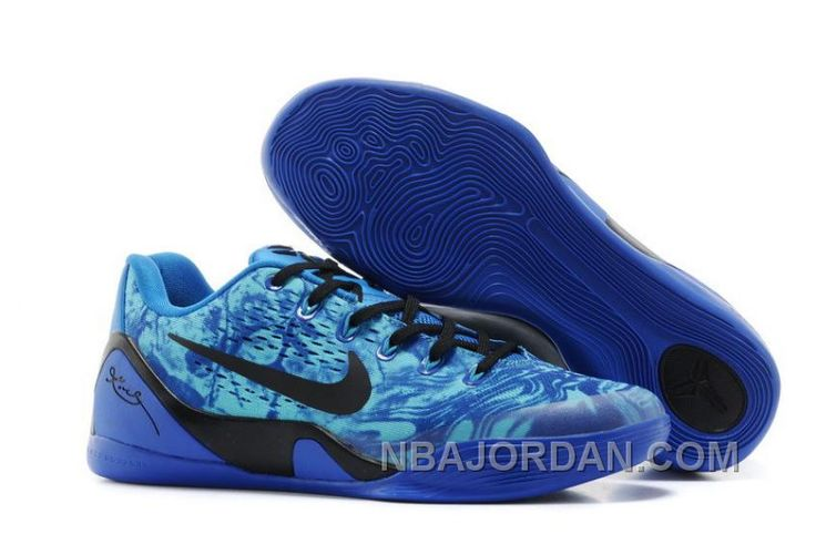http://www.nbajordan.com/mens-nike-kobe-9-shoes-black-blue-discount.html MEN'S NIKE KOBE 9 SHOES BLACK BLUE DISCOUNT Only $92.00 , Free Shipping!