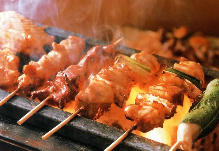 Mine: Yakitori (Japanese grilled chicken)