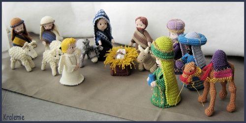 Crocheted Christmas Creche Figures - Nativity set