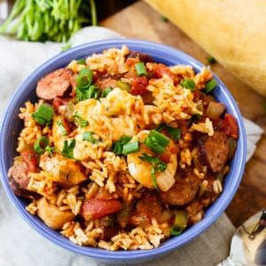 Slow Cooker Jambalaya, with chucks of chicken and andouille sausage and lots of shrimp, is a super flavorful one dish meal. Since Mardi Gras is just around the corner, my belly has been craving all those wonderful New Orleans foods. I'm especially excited about Mardi Gras this year because guess what??!! I'm going!!  …