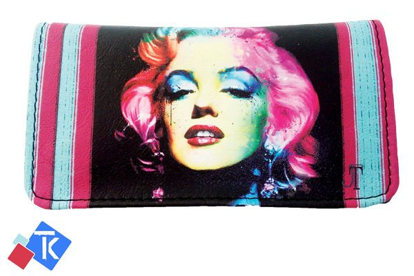 Marilyn Monroe Tobacco Case Rolling Cigar Pouch Wallet PU Leather Cigar