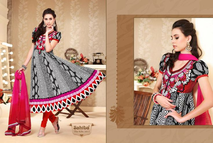 www.sahibafabrics.com Follow the link #beautiful #anarkali #fashion #indian #indianfashion