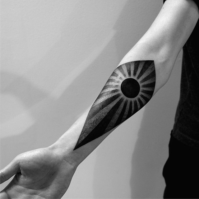 Sweet black hole sun tattoo by Cats @ 2Spirit Tattoo. Check this out on Instagram.com