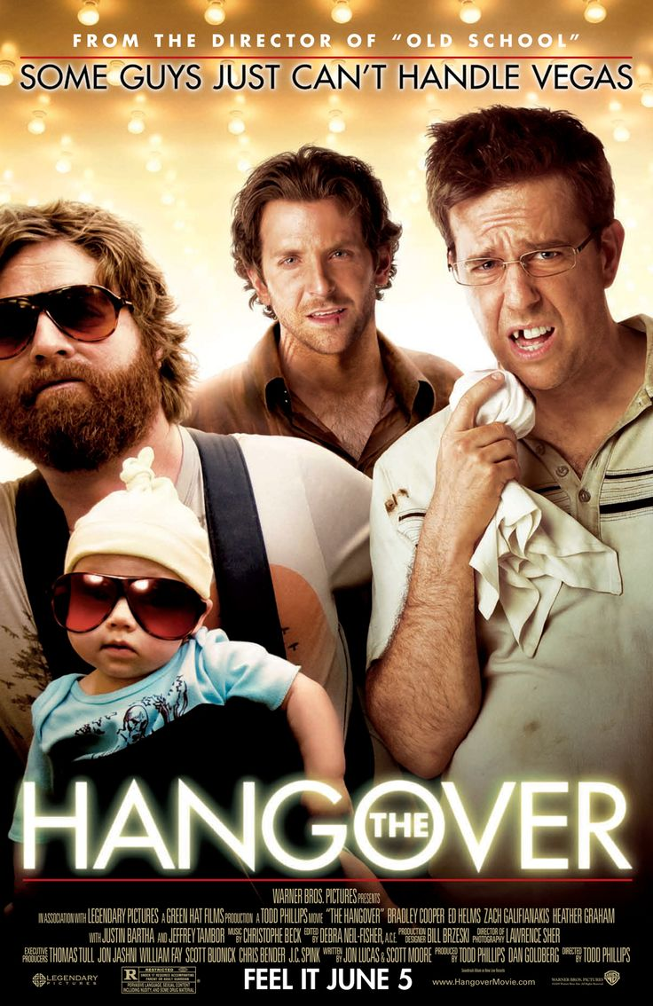 The Hangover. . .I recently watched this one for the first time, and even though I'm not a huge fan of these types of movies, it was pretty hilarious.