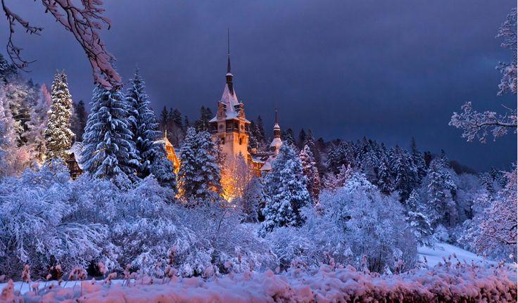 Fairytale castle in Romania. Peles Castle