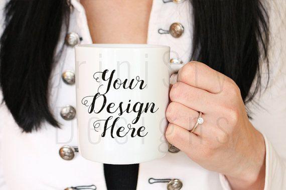 Engagement Mug Mockup, Does this ring make me look engaged mug, Styled Stock Photography, Stock photo, Stock image, White Coffee Mug, 351
