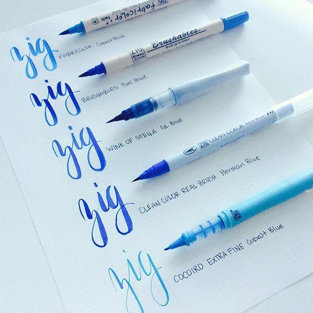 Get your ZIG on with Kuretake brush pens! Which Zig brush marker is your favorite? #Kuretake #Zig #markers #brushpen #brushlettering #brushcalligraphy #cleancolor