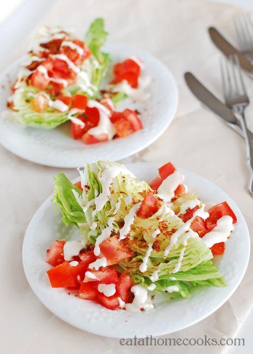 Simple Lettuce Wedge Salad