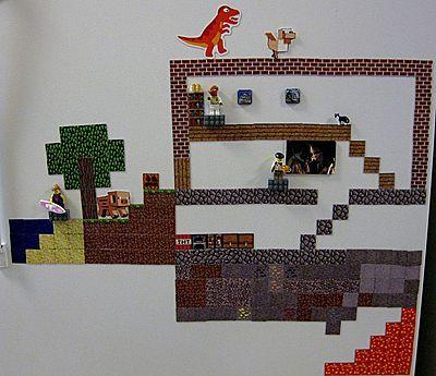 Minecraft Sheet Set   ThinkGeek :: Minecraft Sheet Magnets