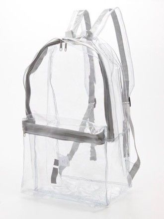 bag see through backpack shoes transparent grunge pastel pastel goth transparent  bag clear grey whit white see through bag grudge american apparel