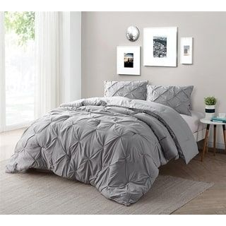 BYB Alloy Pin Tuck Comforter Set | Overstock.com Shopping   The Best Deals  On