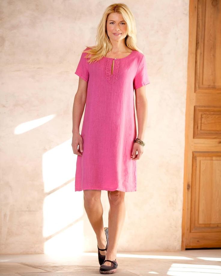 Bijou Linen Dress Misses | Territory