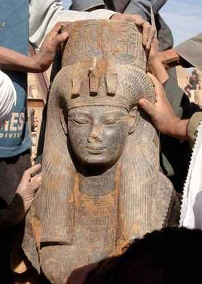Egyptologists have discovered a statue of Queen Ti, wife of one of Egypt's greatest pharaohs and grandmother to the boy-king Tutankhamun, at an ancient temple in Luxor, an Egyptian antiquities official said. The roughly 3,400-year-old statue was well-preserved. Ti's husband, Amenhotep III, presided over an era which saw a renaissance in Egyptian art. A number of cartouches, or royal name signs, of Amenhotep III were found on the statue.
