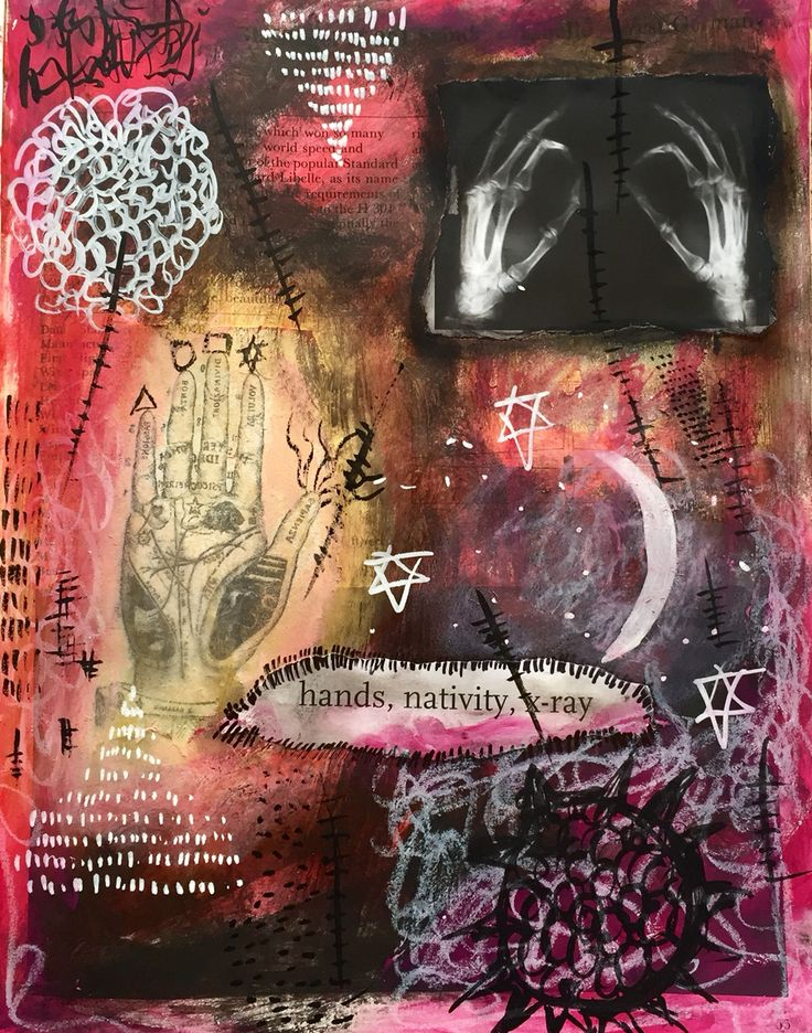 Journal page Ruby Jude mix media artist
