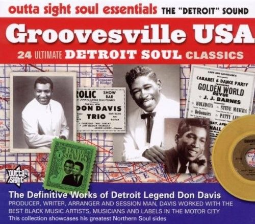 The book's accompanying CD – GROOVESVILLE USA Various Artists NEW NORTHERN SOUL DETROIT SOUL CD (OUTTA SIGHT) www.groovesvilleusa.com/blog