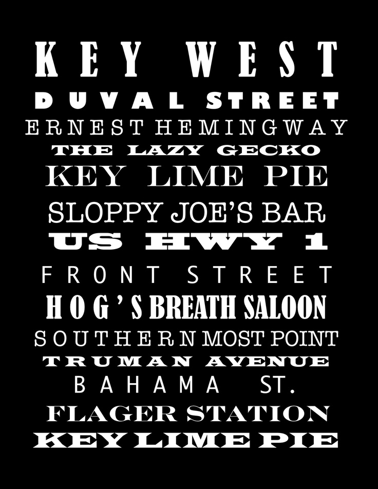 Key West poster By Vickie Scarlett-Fisher -For sale on http://www.redbubble.com/people/vredfish