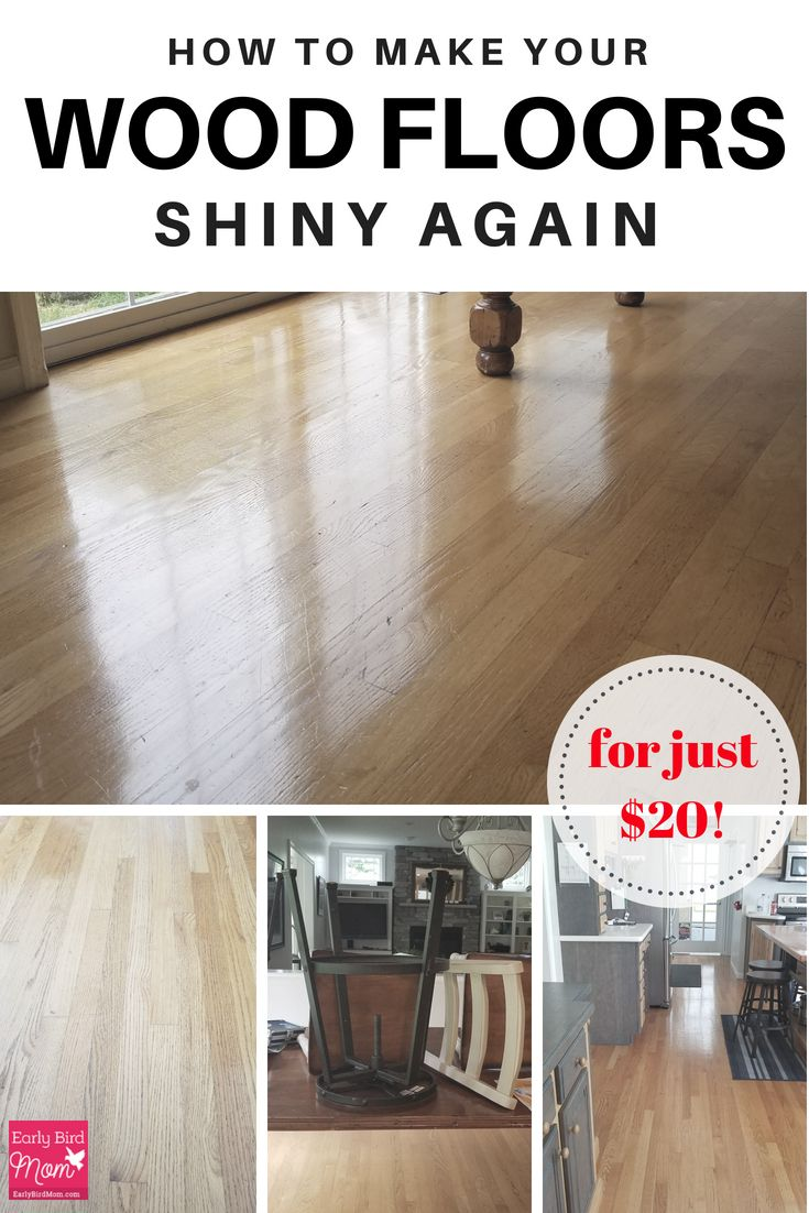 How To Make Your Wood Floors Shiny Again For Just 20 Wood Floors Flooring Diy Wood Floors