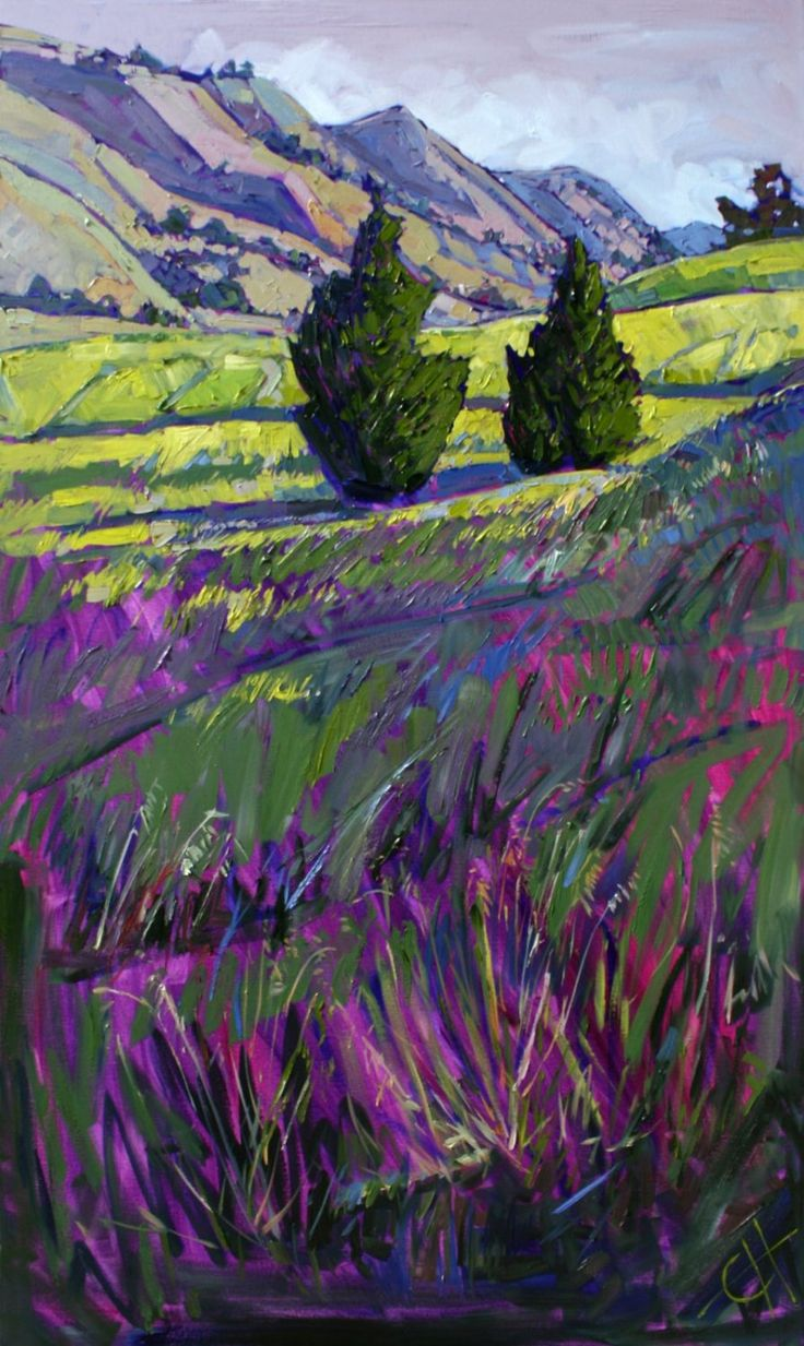 Paso Robles by Erin Hanson; captures California so beautifully; wonderful colors, light/dark contrast