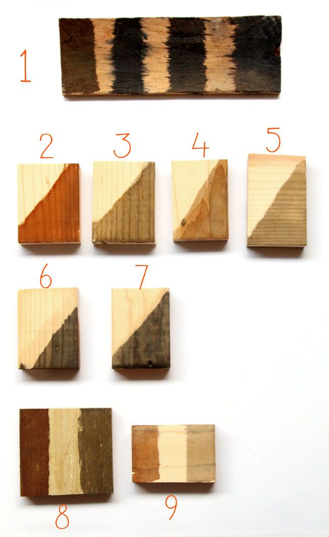 Make wood stain from natural household materials! These 7 quick and easy wood stains are super effective, long lasting, low cost, and non-toxic! - A Piece Of Rainbow