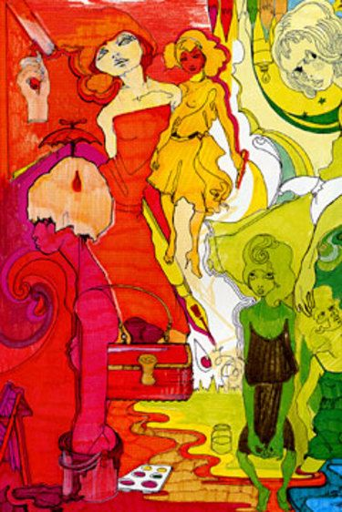 Fashion Illustration from Julie Verhoeven. Psychedelic!