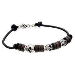Fred Bennett Silver Skull Bracelet #Jewellery