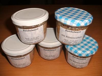 Rezept: Wursten: Zwiebelwurst