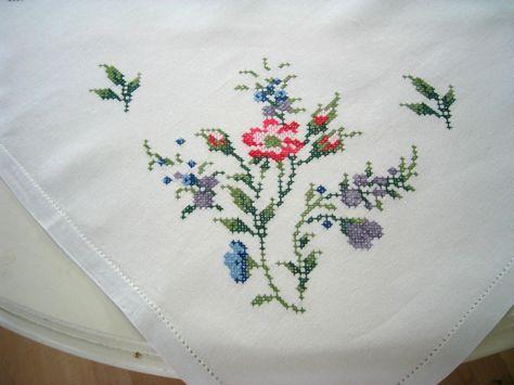 needlepoint tablecloths | Cross Stitch Tablecloth