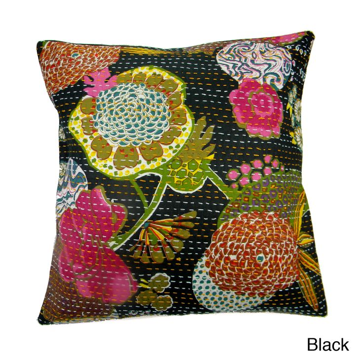 Superior Best Throw Pillow Covers Part - 11: Ethnic Kantha Work Pillow Cover (India) - Overstock™ Shopping - The Best  Prices On Throw Pillows U0026 Covers