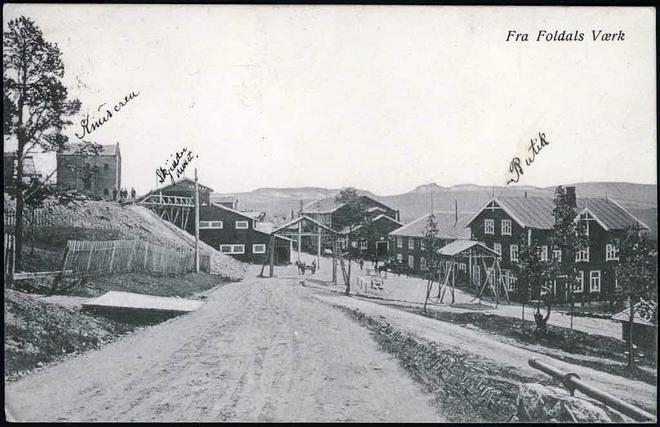 Foldals værk Folldal sentrum Hedmark fylke tidlig 1900-tall