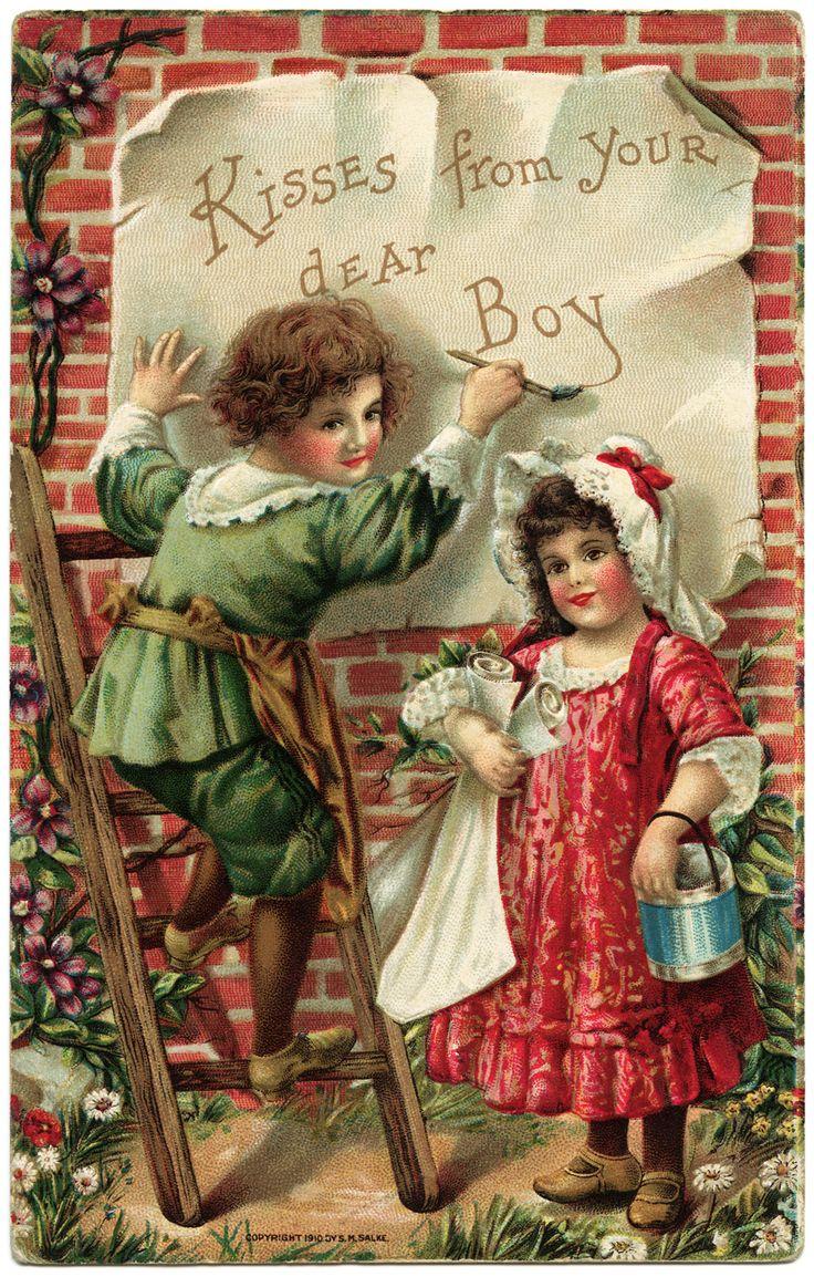 344 best Vintage Valentines images on Pinterest  Love Cards and
