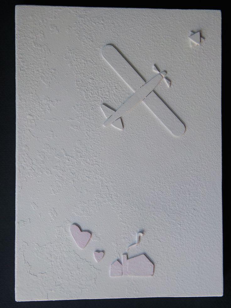 """""""Ricordare sempre anche Terezin """" # 4 (da disegni e graffiti di bambini uccisi) Monocromo bianco su ferro ossidato,Collage, cm 35 x 25, 2013"""