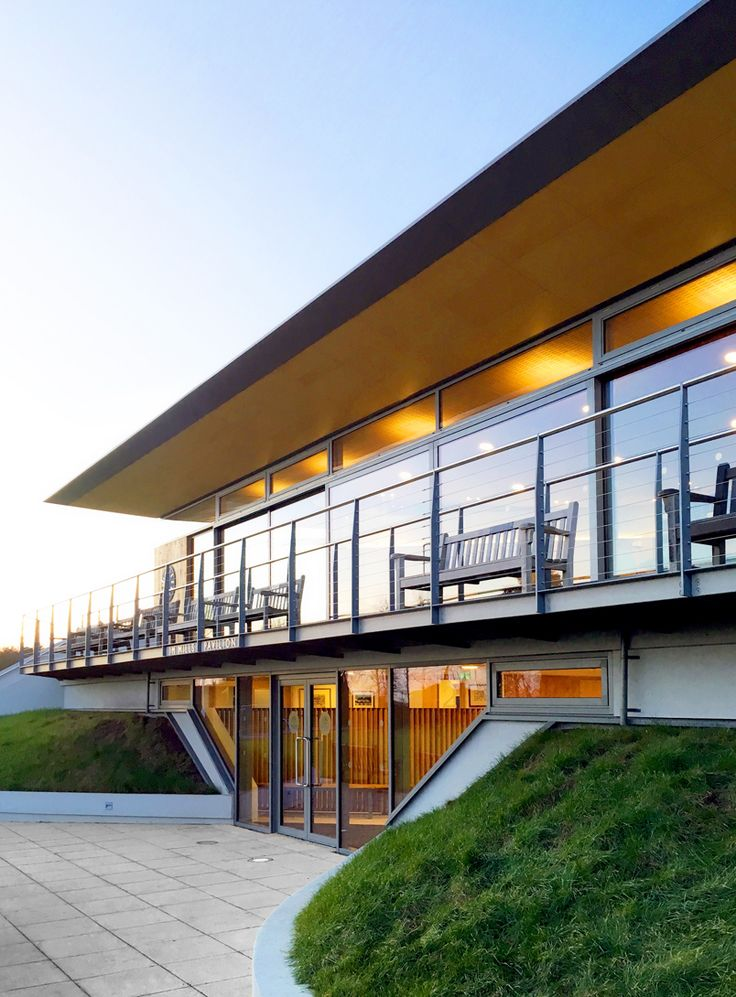 Oundle School Cricket Pavilion, Northamptonshire | balcony and terrace