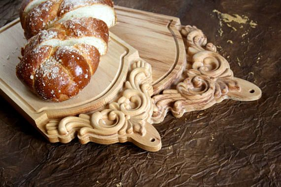 Set of Cutting Boards Wood Carving Cozy Kitchen Decor Chopping