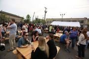 The Flagship Brewery Co., co-owned by Matthew McGinley, Jay Sykes and John Gordon, invited the community to food and drinks in the company's parking lot to thank them for the overwhelming support that's contributed to the business' success. #beer