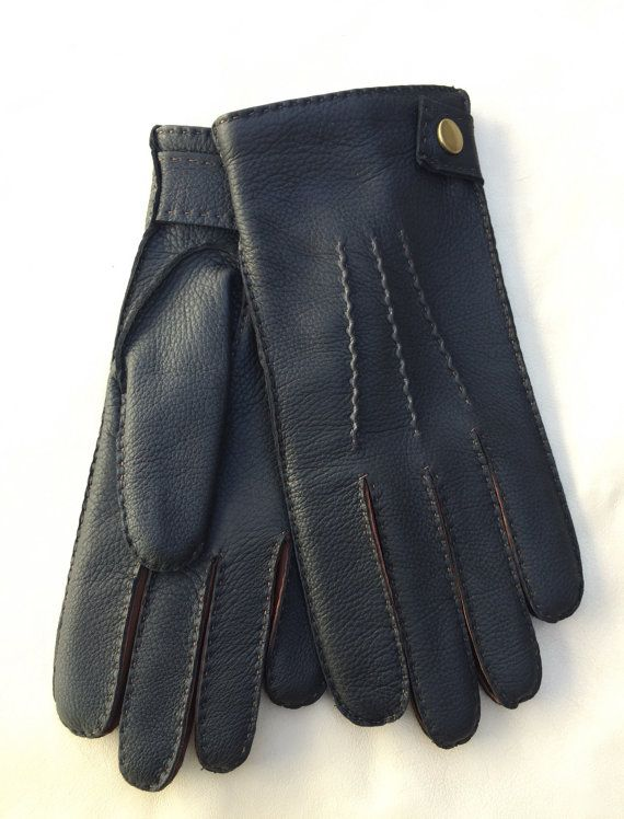 Men's gloves,winter gloves,cashmere lining,elegant style,warm gloves,deerskin leather,italian nappa leather,gift for him,driving gloves