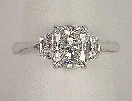Radiant-cut diamond ring