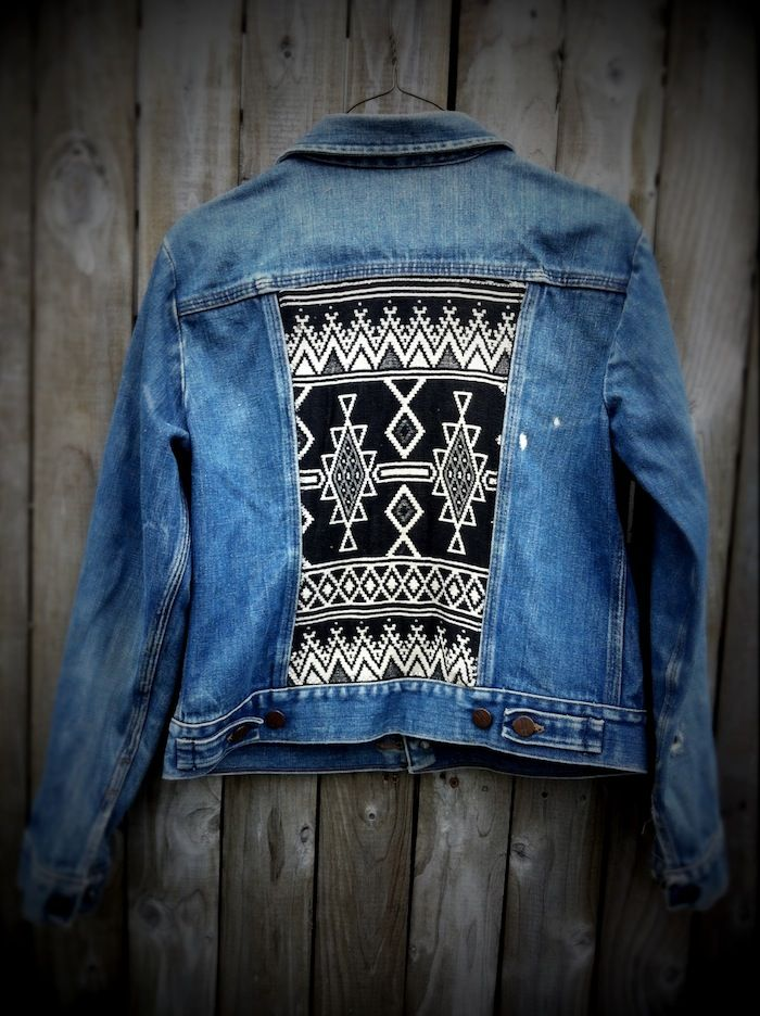 jacket diy.   not sure about the jean fabric... never was into jean jackets. BUT this back would look awesome on ANY jacket