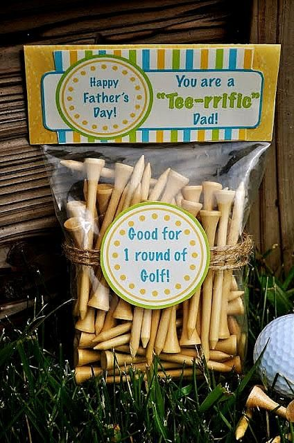 Know a Dad who loves to play golf?  DIY Father's Day Tee-rrific Gift Idea