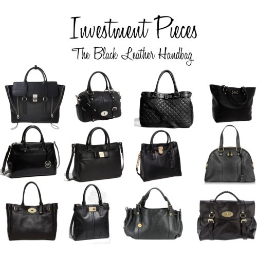Accessories 4: The Black Leather Bag