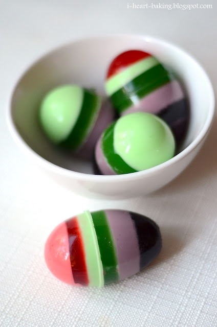 jelly eggsHeart Baking, Layered Jello, Holiday Fun, Eggs Layered, Colours Colours, Fun Ideas, Easter Eggs, Jello Easter, Jello Eggs