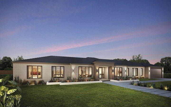 Metricon home designs the davenport georgian facade for Metricon new home designs