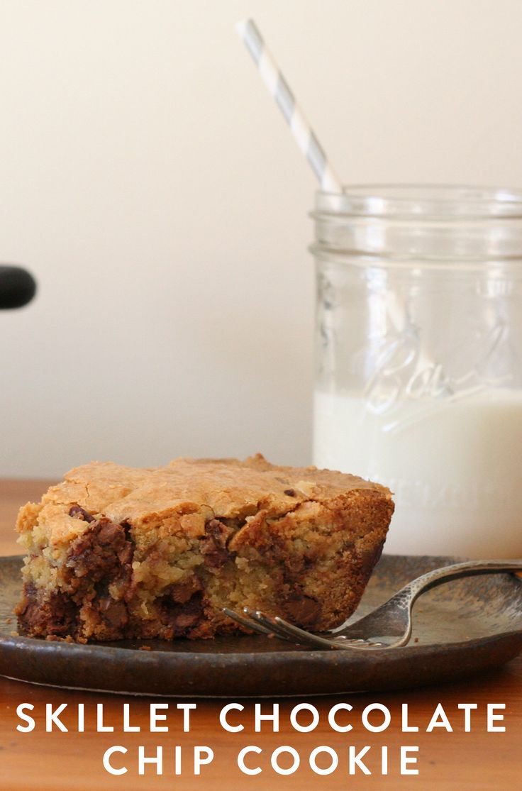 Skillet Chocolate-Chip Cookie via @PureWow via @PureWow