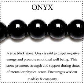 Black Onyx mala beads